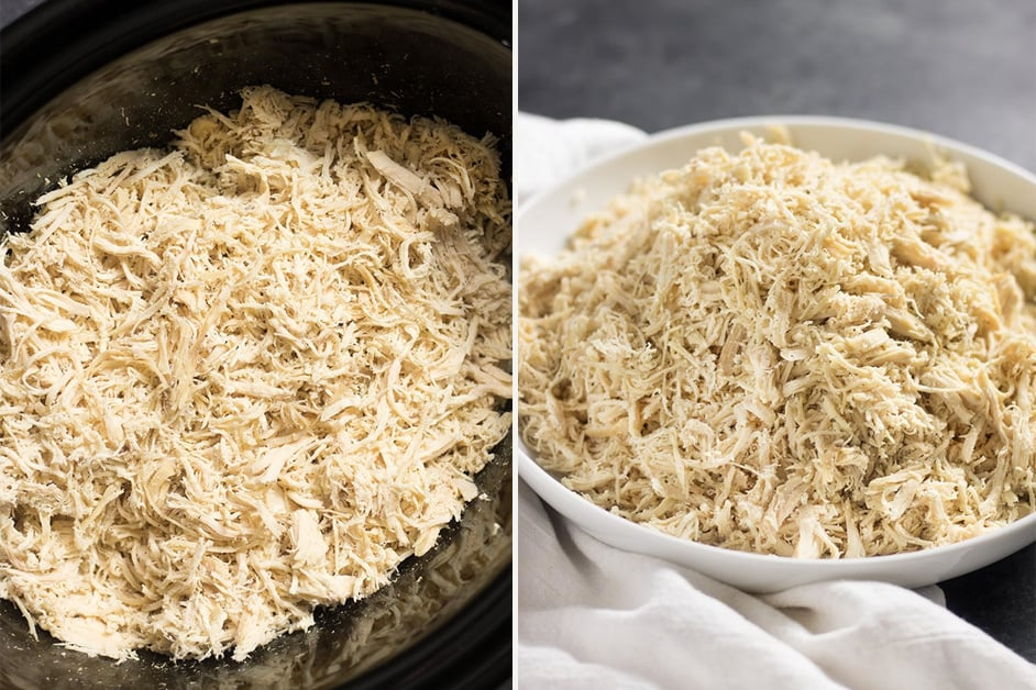 Slow cooker shredded chicken - perfect for paleo meals