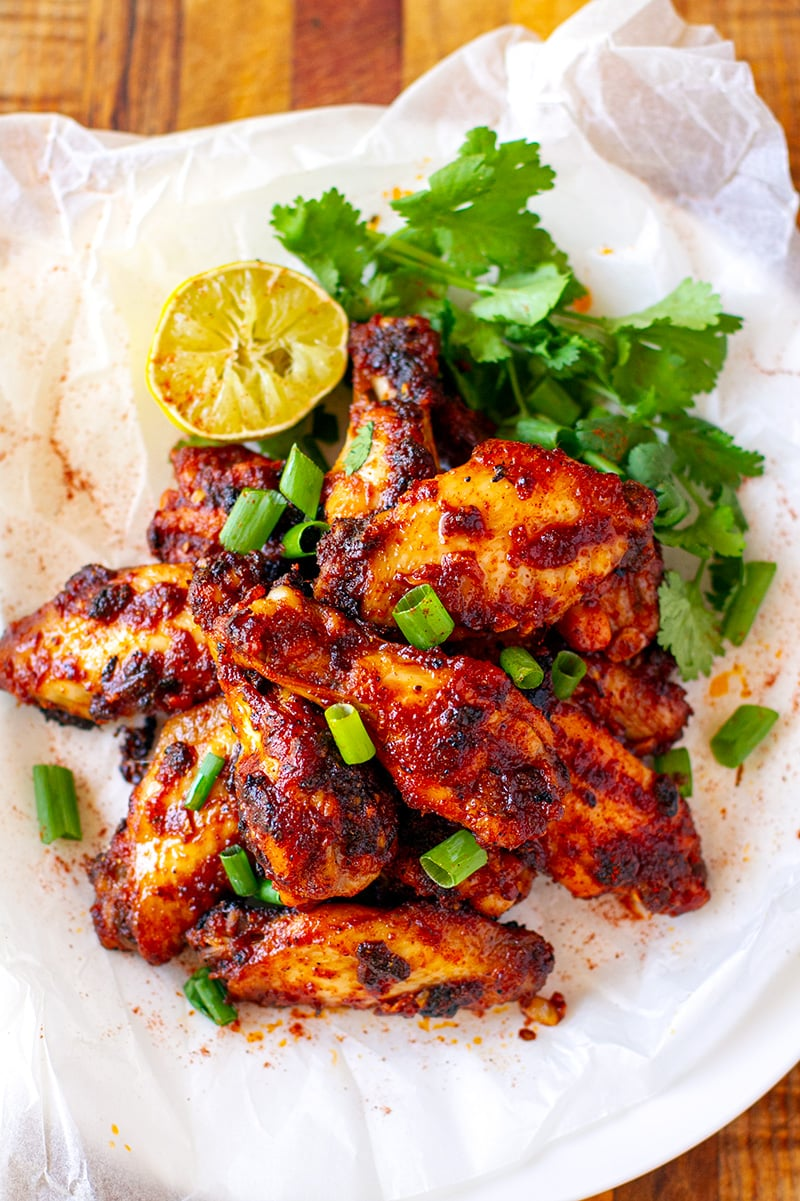 Paleo Chicken Wings With Smoky Spice Rub & Honey Lime Glaze