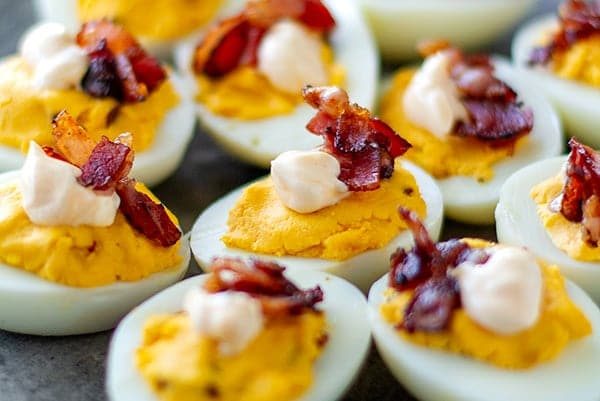Buffalo deviled eggs feature
