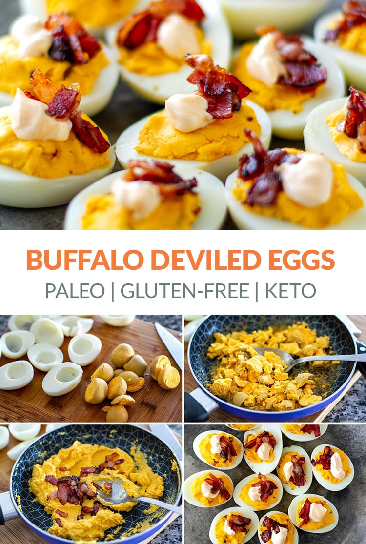 Buffalo Devilled Eggs With Crispy Bacon