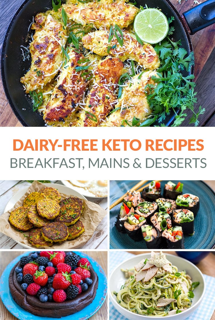 Dairy-free Keto recipes with breakfast, mains and dessert options (also gluten-free)
