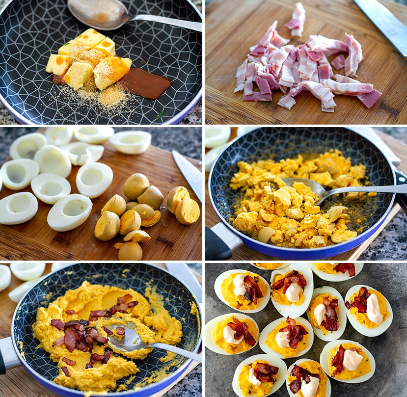 Paleo Deviled Eggs With Buffalo Sauce