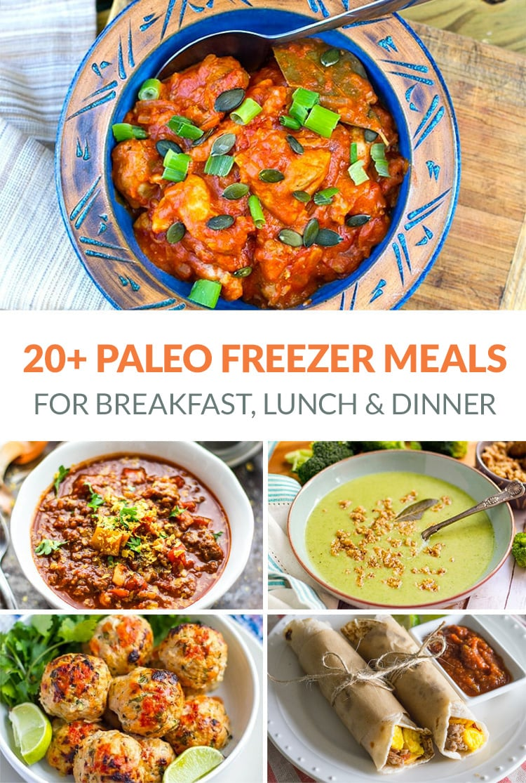 Paleo Freezer Meals Including Breakfast, Lunch & Dinner