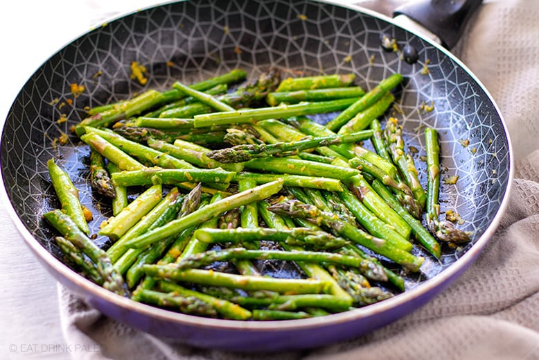 Sauteed Asparagus With Ginger & Orange