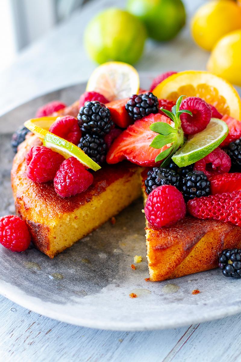 Citrus Summer Cake (Paleo, Gluten-free, Nut-Free, Grain-free)
