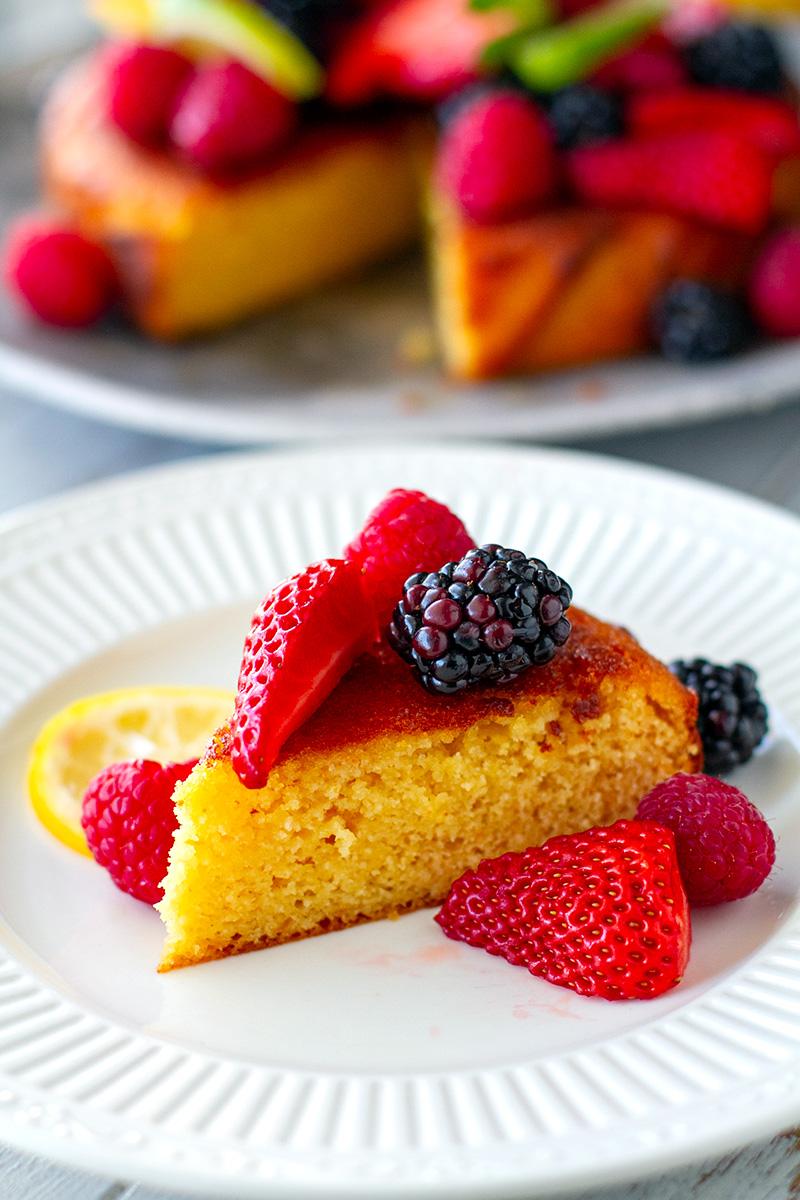 Healthy Orange & Lemon Cake (Nut-Free, Grain-free, Paleo)