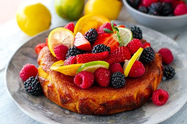 Citrus summer cake (paleo, nut-free)