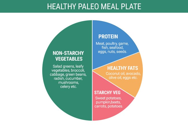 Paleo diet rules - healthy meal plate