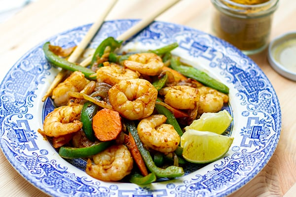 Coconut Curry Shrimp Stir Fry