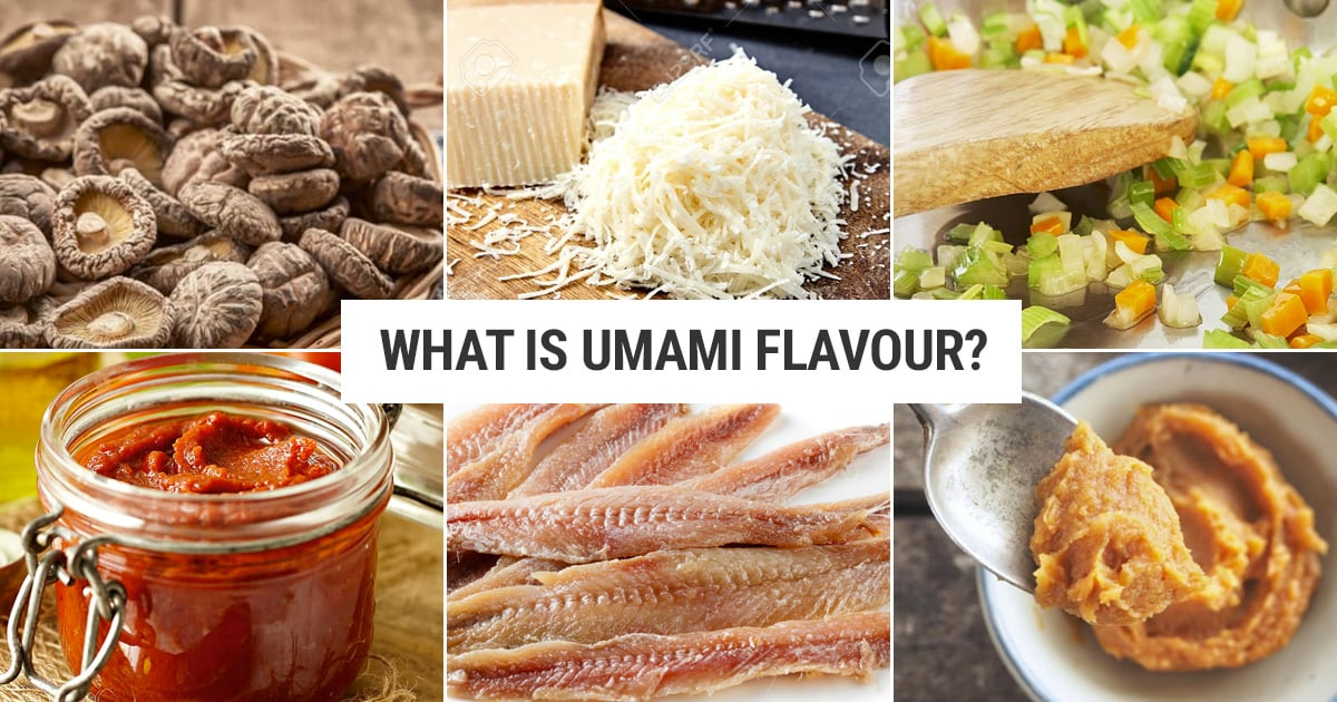 What is umami and which foods have umami flavour?