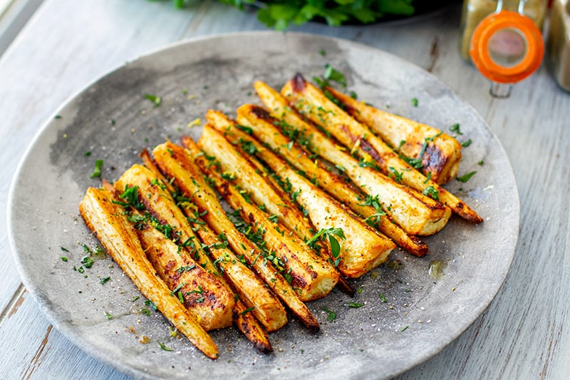 Roasted Parsnips With Spices & Parsley