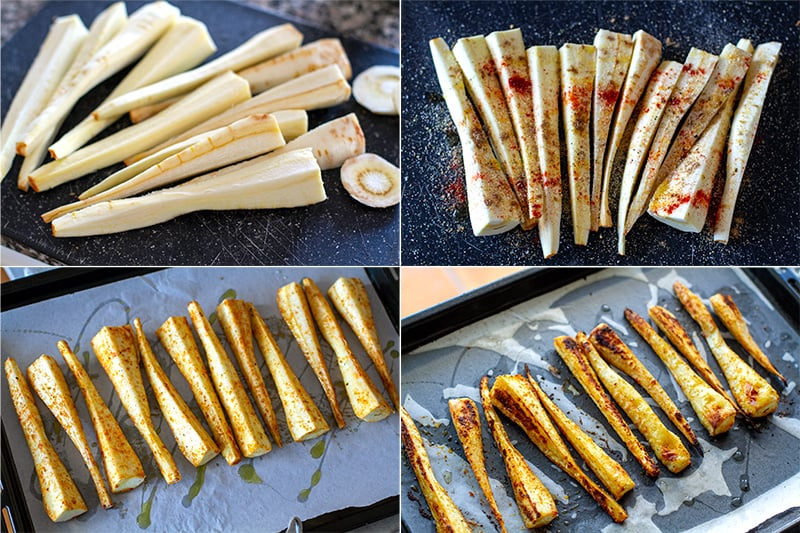 how to Roast parsnips with spices
