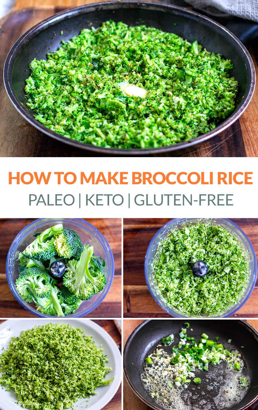 How to make broccoli rice (keto, paleo, low-carb)
