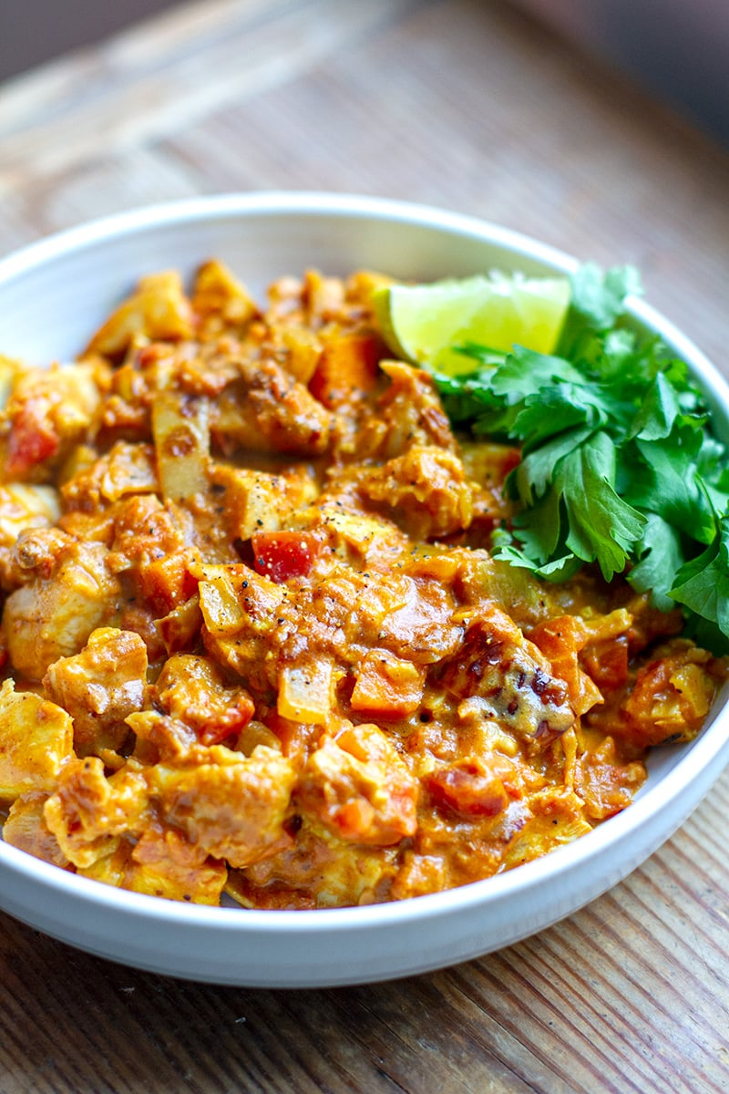 Quick Chicken Curry In A Hurry With Tomato & Coconut Sauce