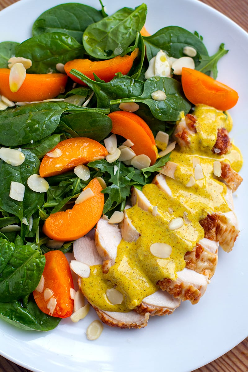 Apricot Chicken Salad With Curry Mayo Dressing