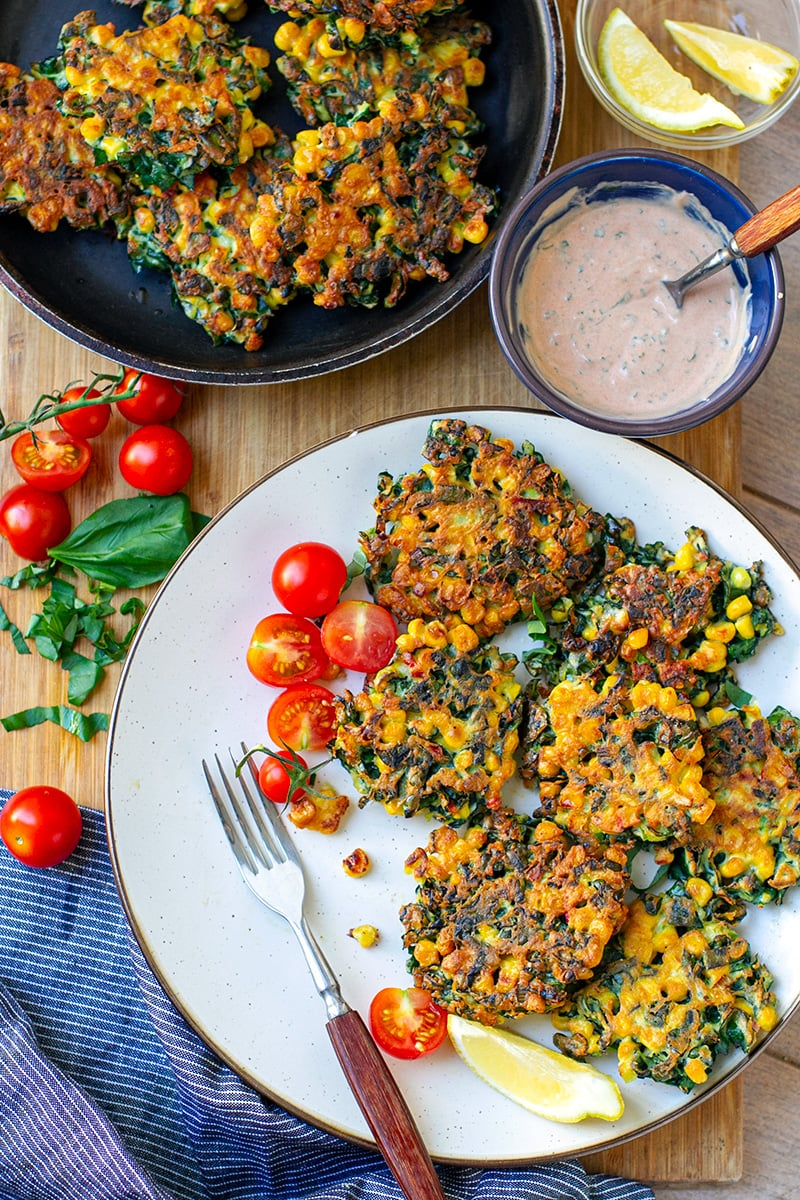 Kale & Corn Fritters