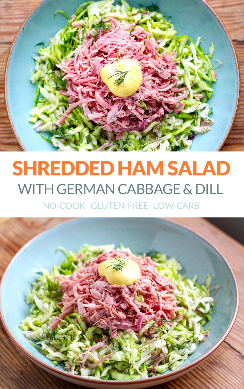 Shredded Ham & Cabbage Salad With Dill & Mustard