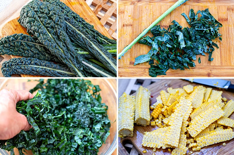 How to make corn fritters with kale