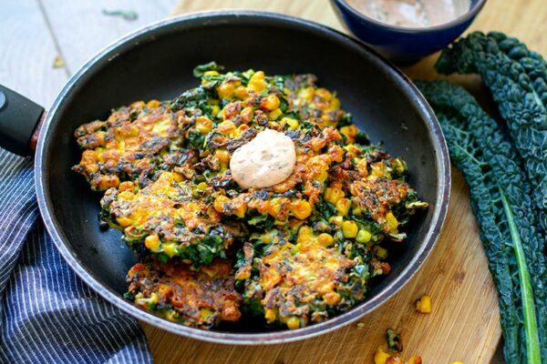 Cavolo Nero & Corn Fritters Recipe