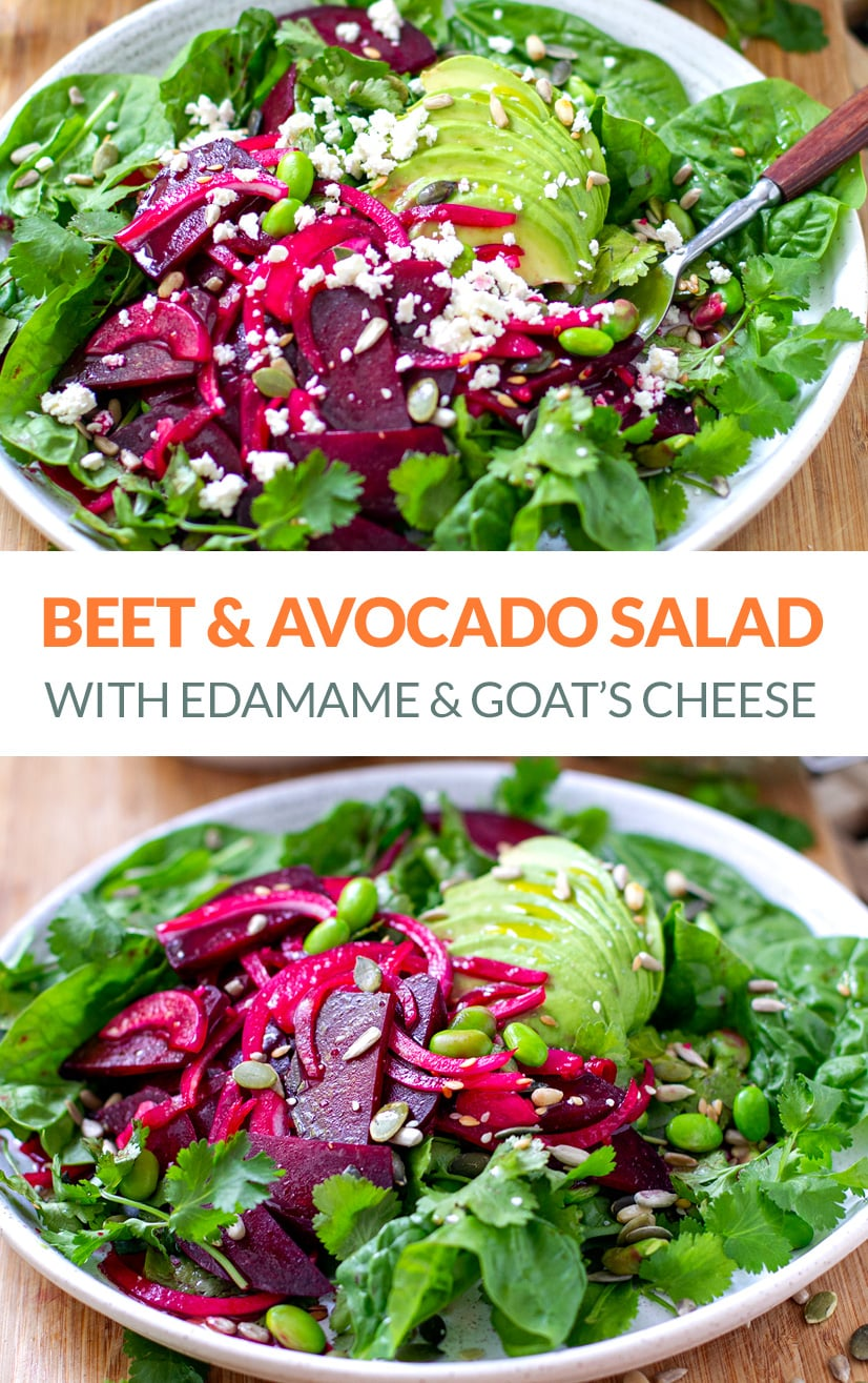 Edamame Salad With Beets & Avocado