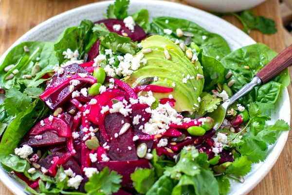Beet Avocado & Edamame Salad