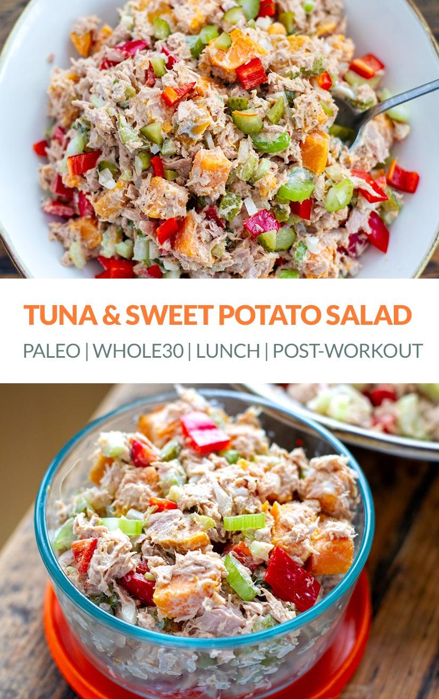 Tuna Sweet Potato Salad (Paleo, Whole30, Healthy