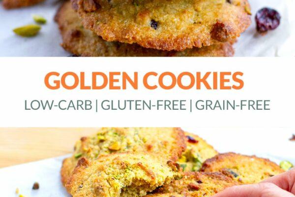 Golden Coconut Cookies (Low-Carb, Gluten-Free)