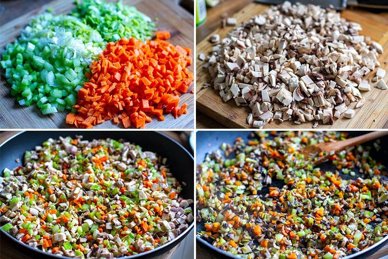 How to make nut roast - cooking vegetabels
