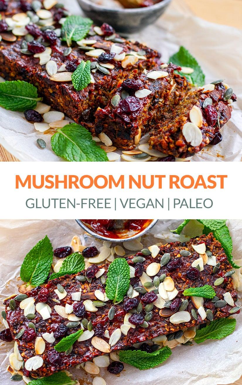 Mushroom Nut Roast (Vegan, paleo)