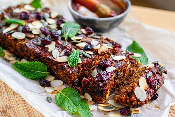 Nut roast vegan and paleo