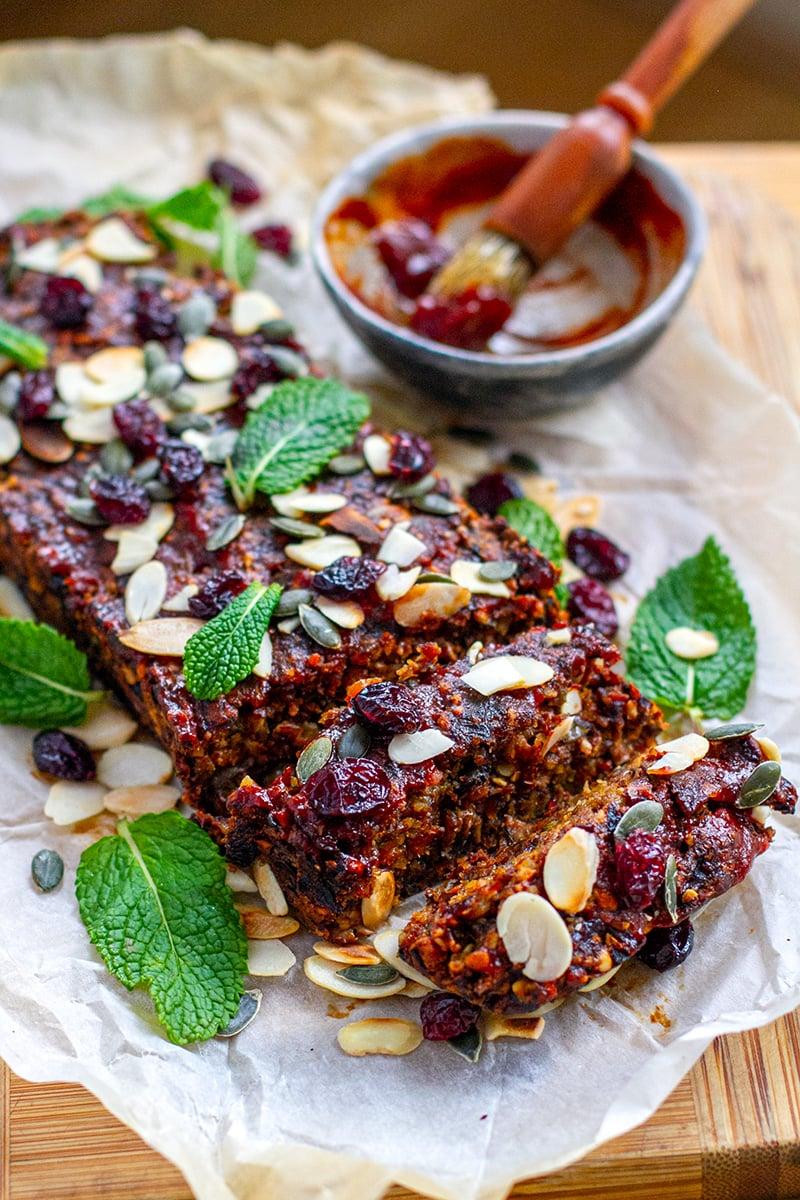 Nut Roast With Mushrooms (Vegan, Paleo, Gluten-Free)