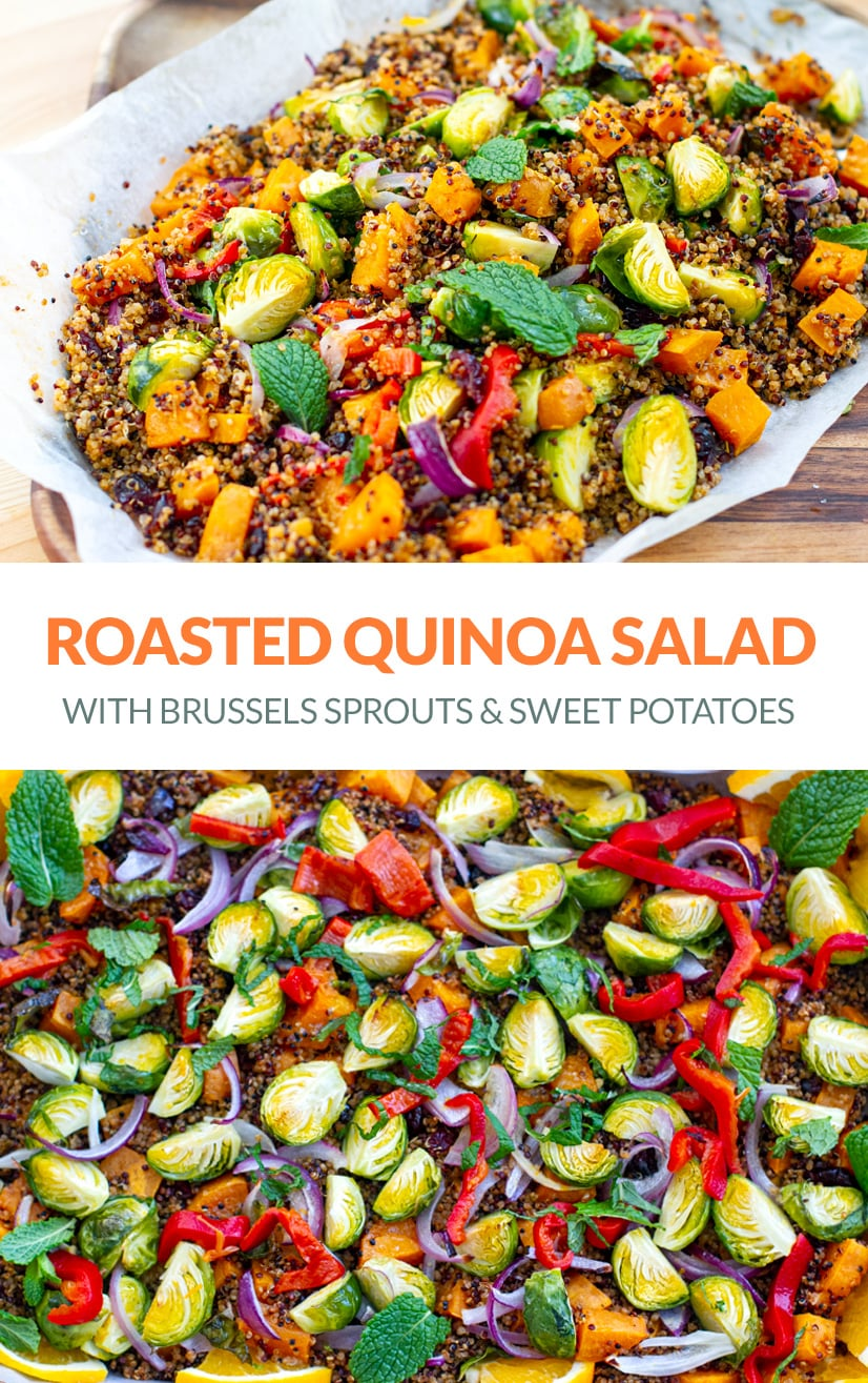 Warm Quinoa Salad With Brussels Sprouts & Sweet Potatoes
