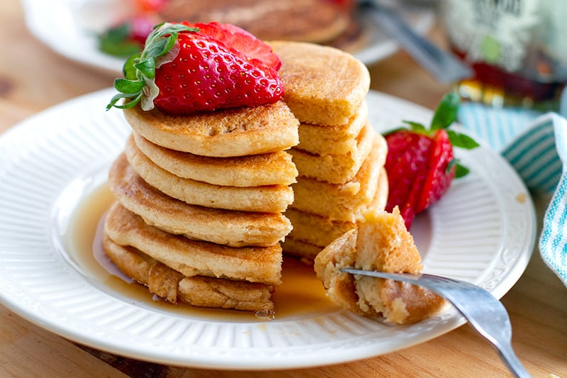 Fluffy paleo pancakes Japanese-inspired