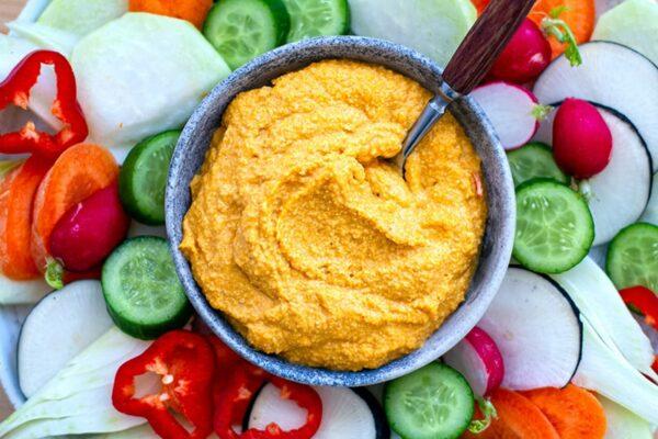 Pumpkin Tahini Cashew Hummus Dip