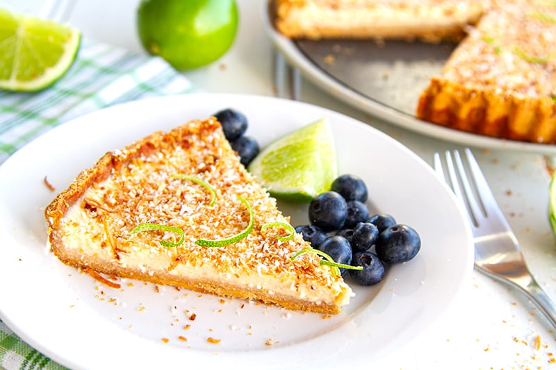 Gluten-Free Tart With Lime & Coconut Filling