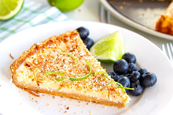 Paleo Tart With Lime & Coconut