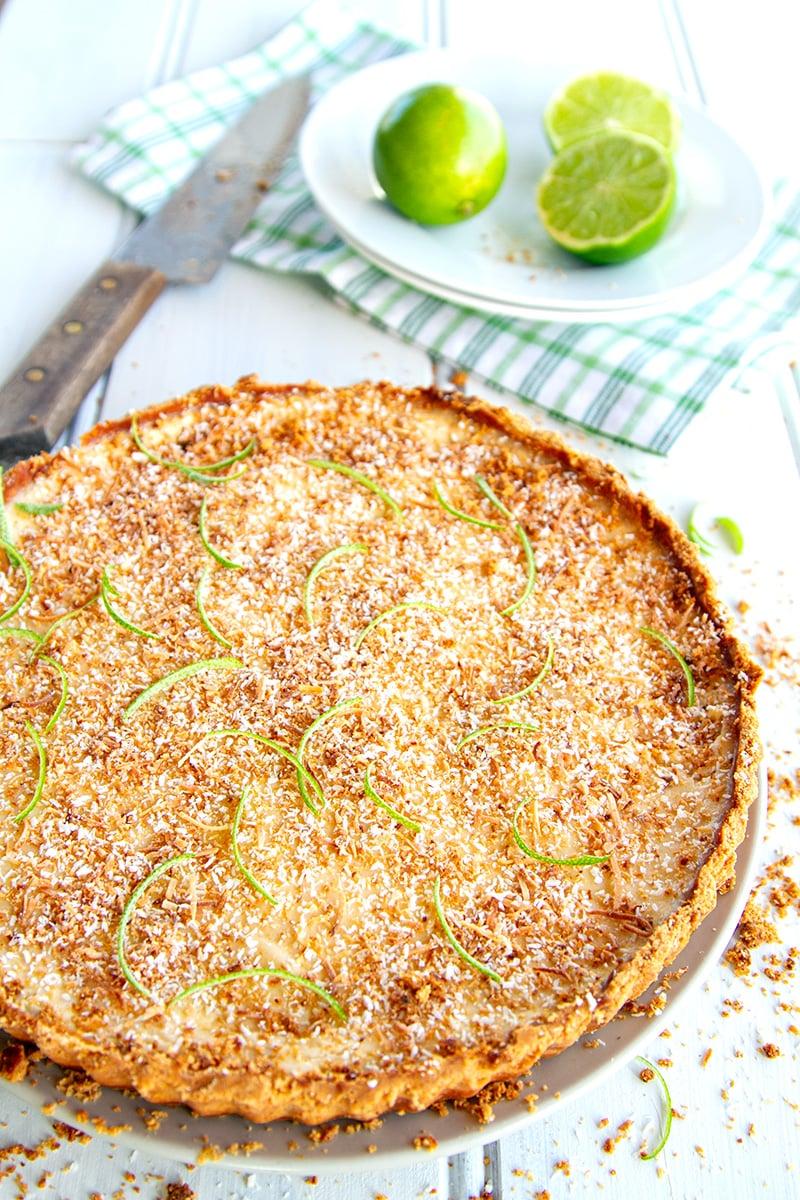 Paleo Lime & Coconut Tart
