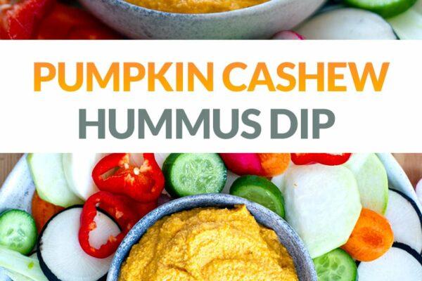 Roast Pumpkin & Cashew Hummus Dip