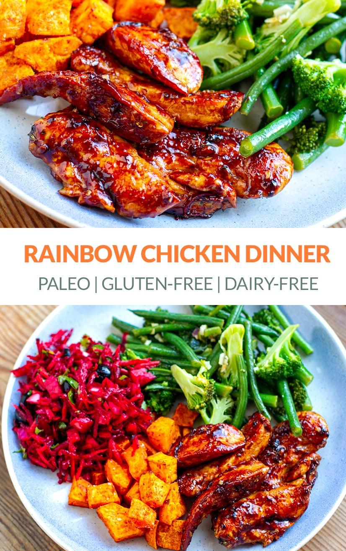 Healthy Rainbow Chicken Dinner (Paleo, Gluten-Free, Whole30)