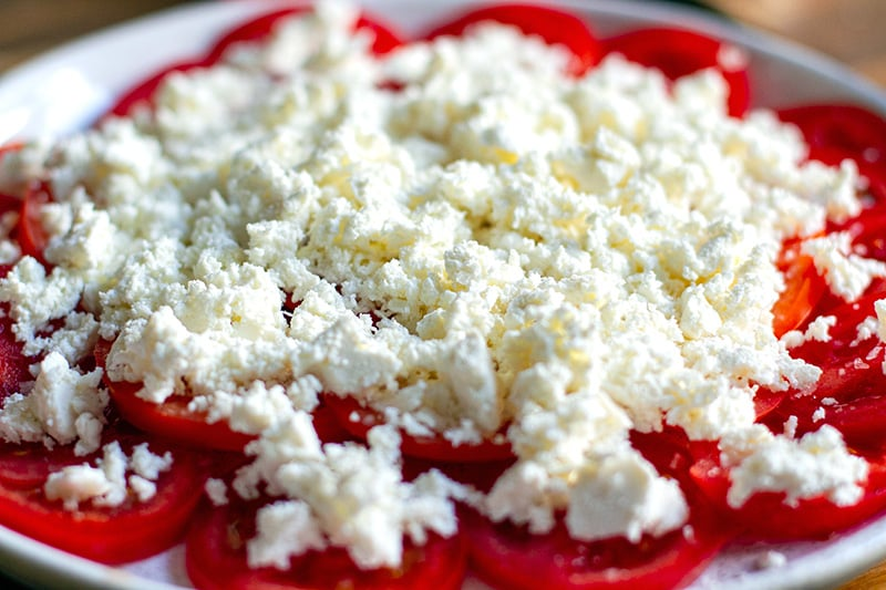 Ricotta salad with tomatoes