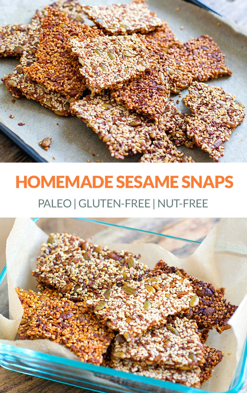 Homemade Sesame Snaps (Gluten-Free, Nut-Free)