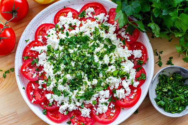 Tomato Ricotta Salad With Herbs & Lemon