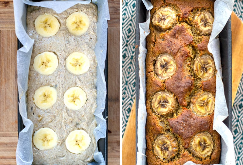 Baking quinoa flour banana bread