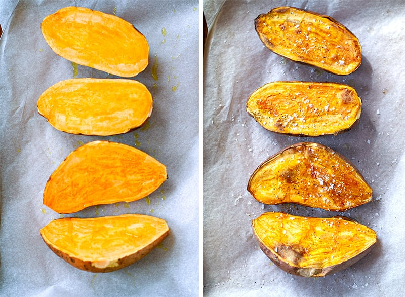 How to bake sweet potatoes for stuffing