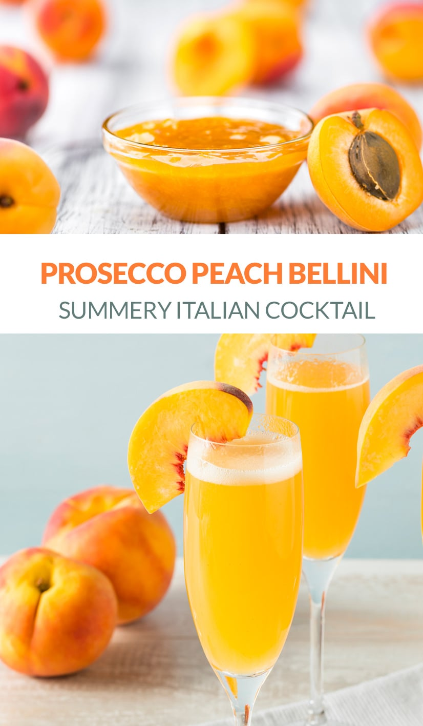 Peach Prosecco Bellini Recipe