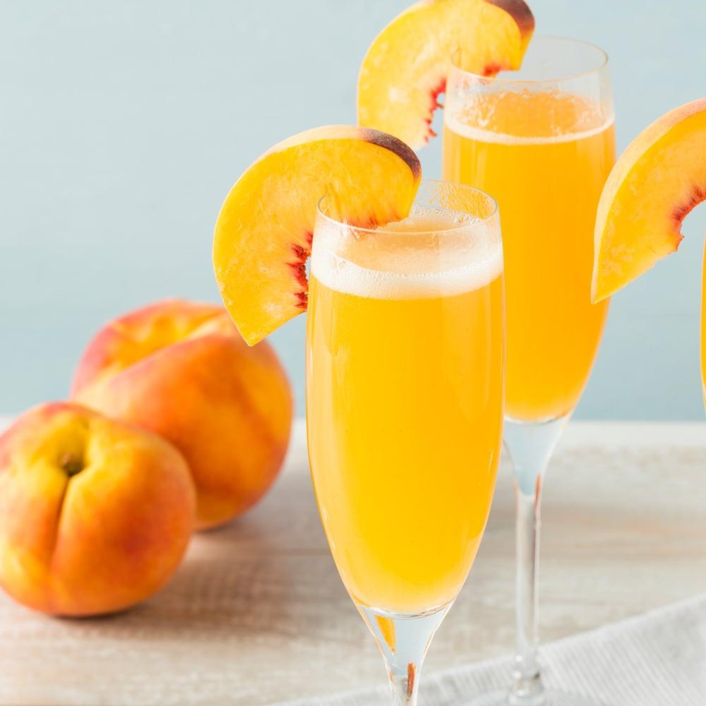 Prosecco Peach Bellini - Irena Macri   Food Fit For Life