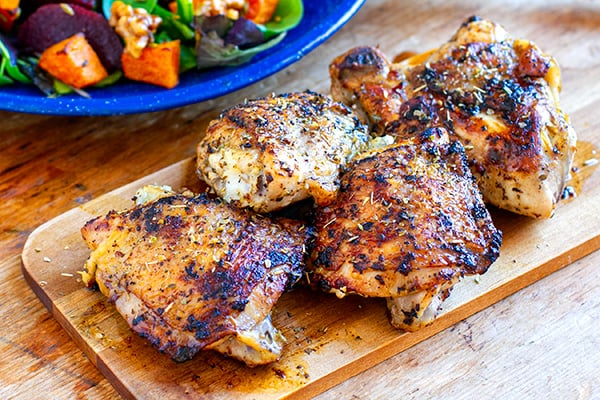 Roasted Chicken Thighs With Oregano & Garlic