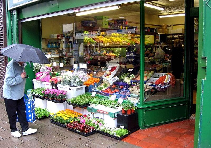 Shopping at Greengrocers
