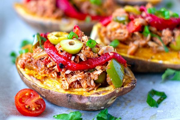 Stuffed Sweet Potatoes With Spanish Tuna Filling