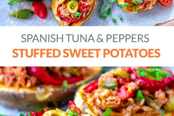 Stuffed Sweet Potatoes With Spanish Tuna & Peppers